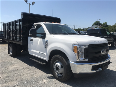 2017 F-350 Regular Cab DRW 4x2,  Rugby Versa Rack Landscape Dump #17735 - photo 4