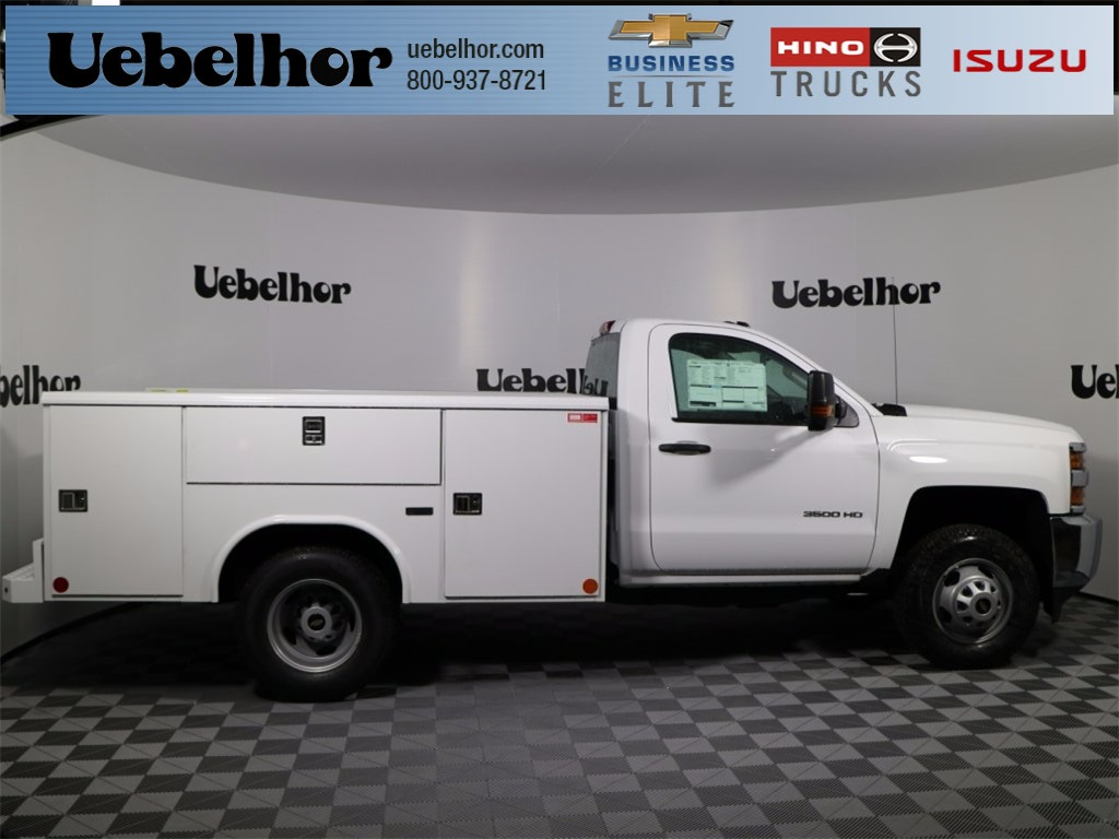 2017 Silverado 3500 Regular Cab DRW 4x4,  Reading Classic II Steel Service Body #CT7782 - photo 1