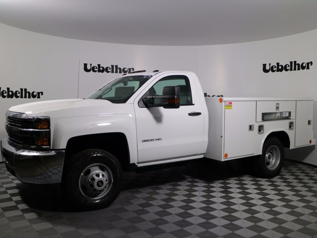 2017 Silverado 3500 Regular Cab DRW 4x4,  Reading Classic II Steel Service Body #CT7825 - photo 1