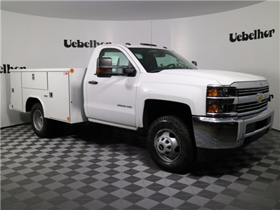 2017 Silverado 3500 Regular Cab DRW 4x4,  Reading Classic II Steel Service Body #CT7825 - photo 4