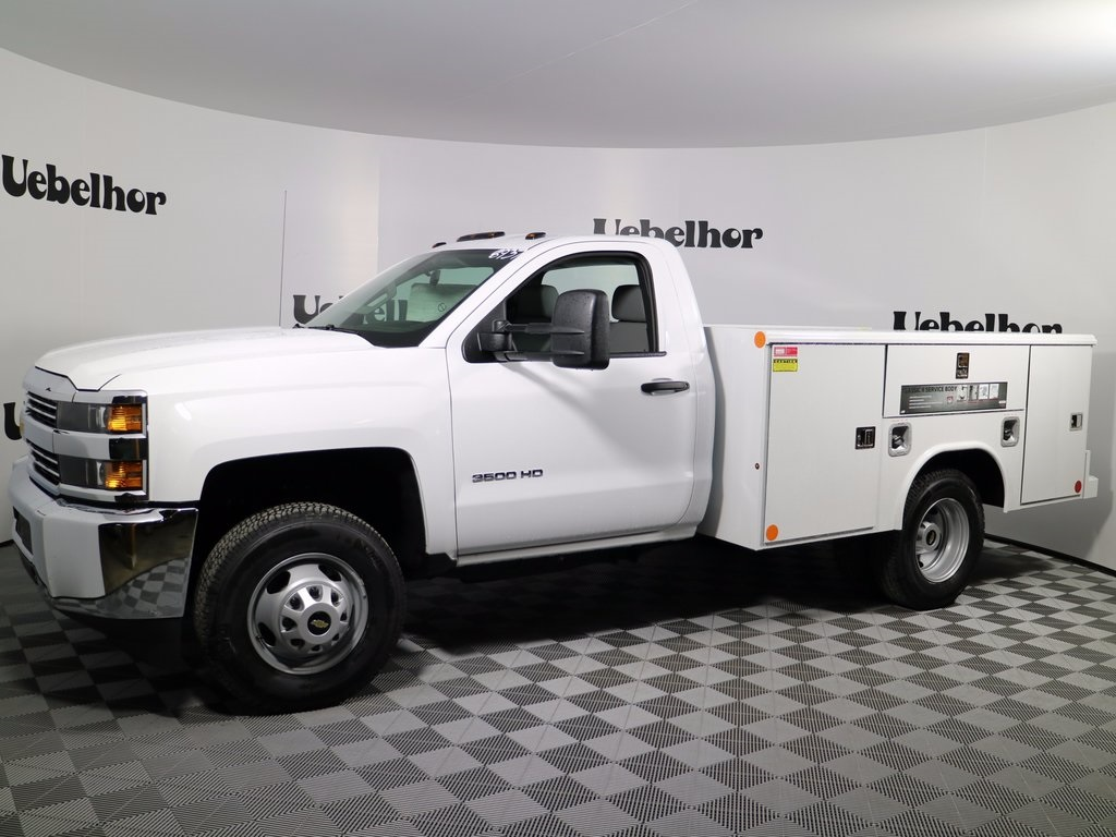 2017 Silverado 3500 Regular Cab DRW 4x4,  Reading Classic II Steel Service Body #CT7963 - photo 4