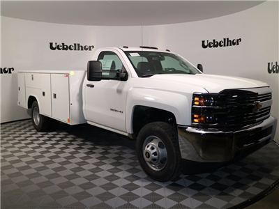 2017 Silverado 3500 Regular Cab DRW 4x4,  Reading Classic II Steel Service Body #CT7980 - photo 3