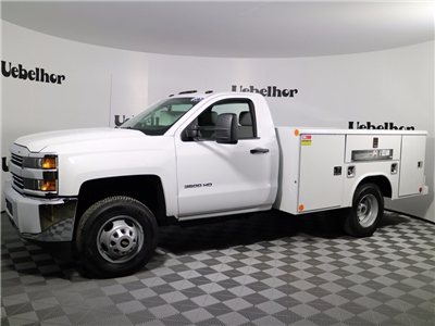 2017 Silverado 3500 Regular Cab DRW 4x4,  Reading Classic II Steel Service Body #CT8412 - photo 5