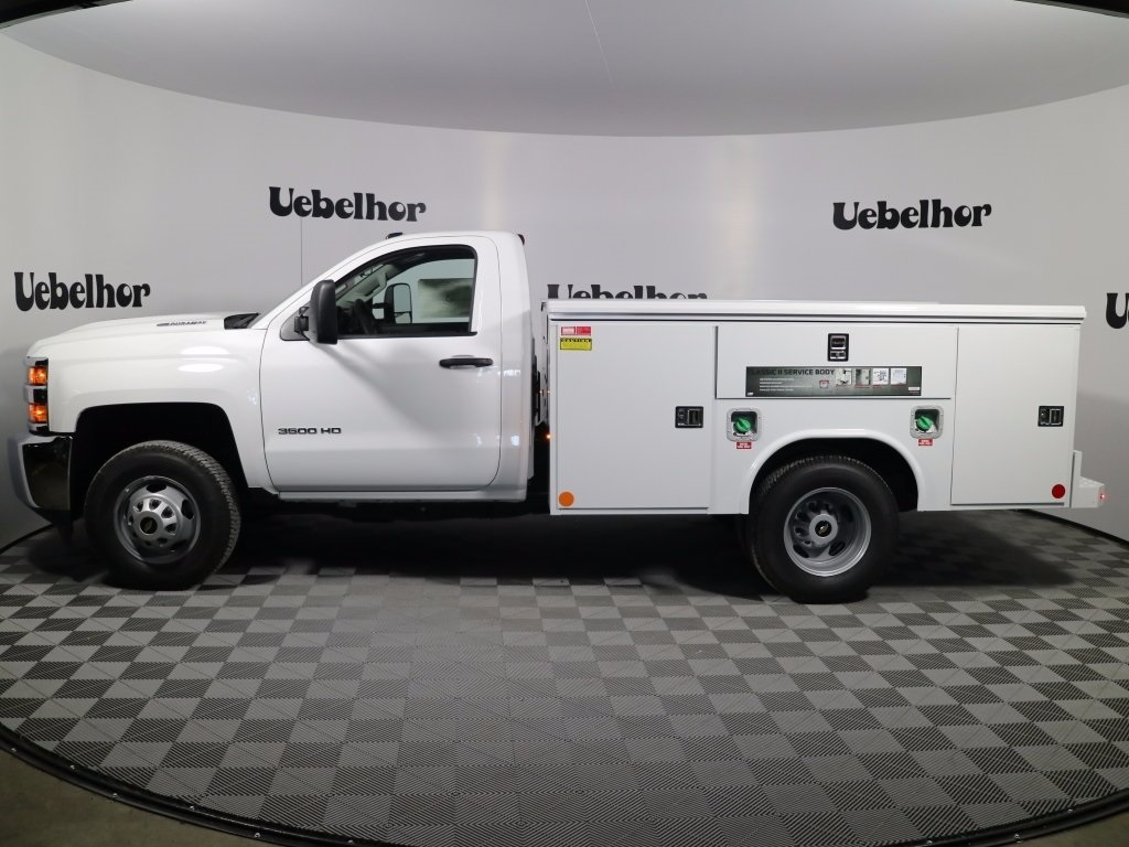 2017 Silverado 3500 Regular Cab DRW 4x4,  Reading Classic II Steel Service Body #CT8571 - photo 3