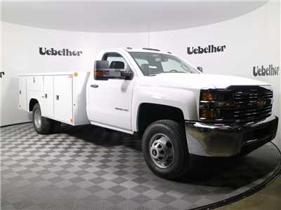 2017 Silverado 3500 Regular Cab DRW 4x4,  Reading Classic II Steel Service Body #CT8702 - photo 3