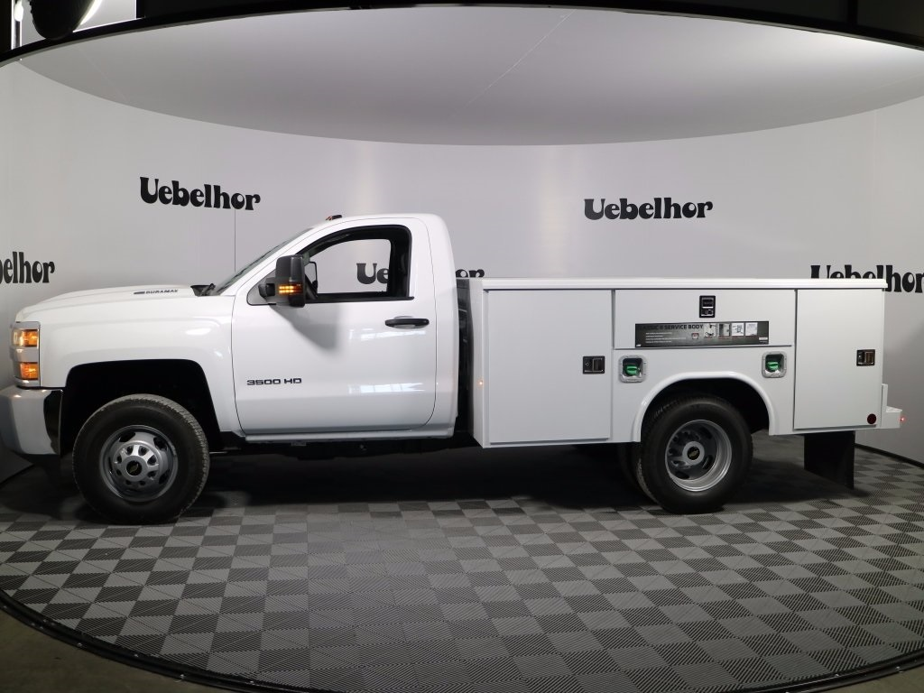 2017 Silverado 3500 Regular Cab DRW 4x4,  Reading Classic II Steel Service Body #CT9880 - photo 6