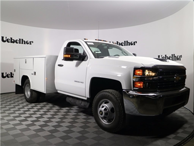 2017 Silverado 3500 Regular Cab DRW 4x4,  Reading Classic II Steel Service Body #CT9880 - photo 3