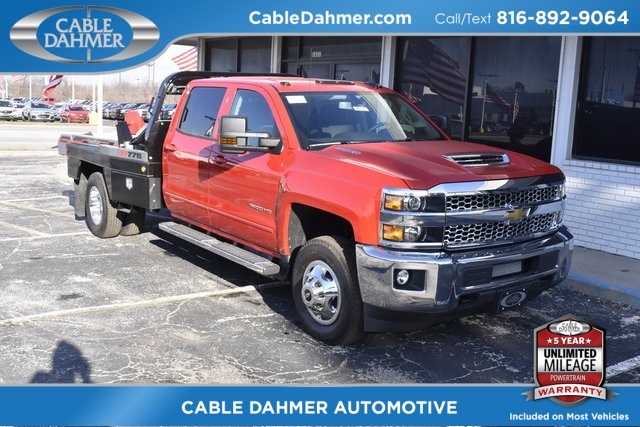 2019 Silverado 3500 Crew Cab 4x4,  DewEze Platform Body #96173 - photo 1