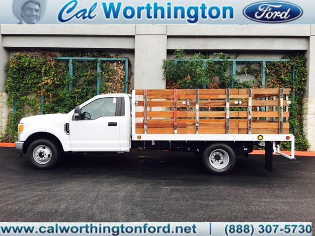 2017 F-350 Regular Cab DRW, Harbor Black Boss Stakebed Stake Bed #H2360 - photo 1