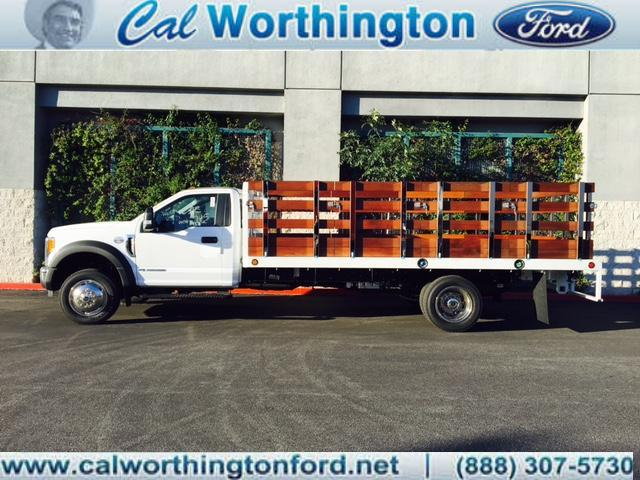 2017 F-550 Regular Cab DRW, Scelzi Western Flatbed Stake Bed #H2442 - photo 1