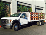 2017 F-550 Regular Cab DRW, Scelzi Western Flatbed Stake Bed #H2442 - photo 3