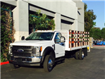 2017 F-550 Regular Cab DRW, Scelzi Western Flatbed Stake Bed #H2442 - photo 4