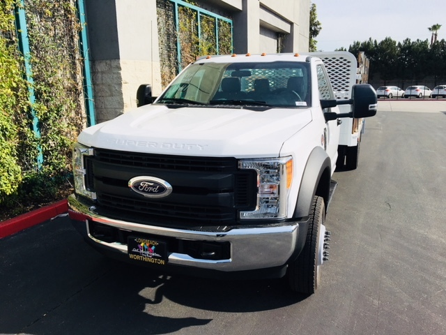 2017 F-550 Regular Cab DRW, Scelzi Stake Bed #H2930 - photo 4