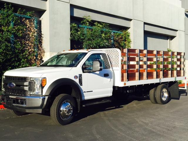 2017 F-550 Regular Cab DRW, Scelzi Western Flatbed Stake Bed #H2932 - photo 3