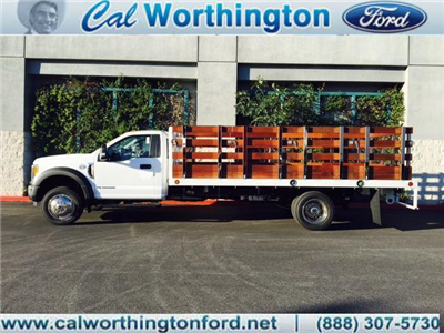 2017 F-550 Regular Cab DRW, Scelzi Western Flatbed Stake Bed #H2932 - photo 1