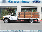 2017 F-550 Regular Cab DRW 4x2,  Scelzi Western Flatbed Stake Bed #H2951 - photo 1