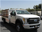 2017 F-550 Regular Cab DRW 4x2,  Scelzi Western Flatbed Stake Bed #H2951 - photo 5