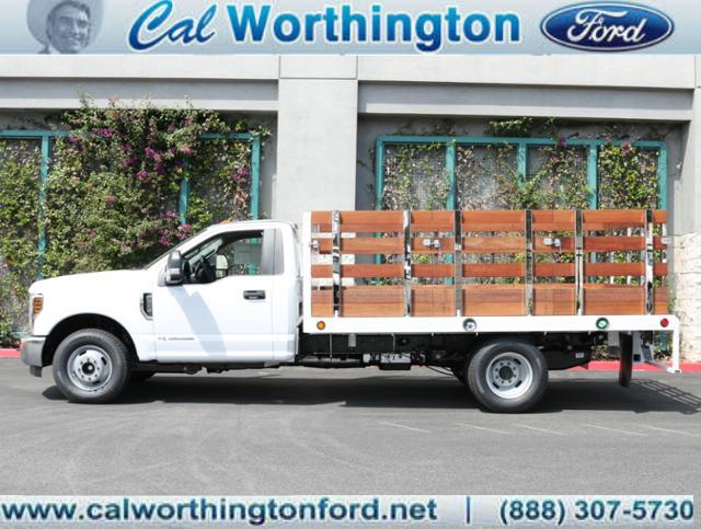 2018 F-350 Regular Cab DRW, Scelzi Western Flatbed Stake Bed #J2285 - photo 1