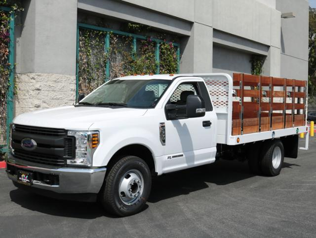 2018 F-350 Regular Cab DRW, Scelzi Western Flatbed Stake Bed #J2285 - photo 3