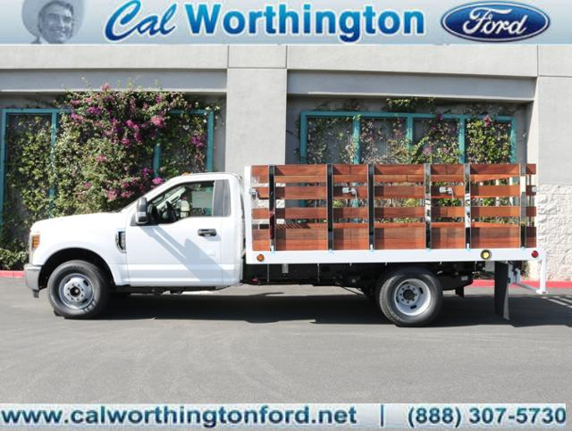 2018 F-350 Regular Cab DRW, Scelzi Western Flatbed Stake Bed #J2303 - photo 1