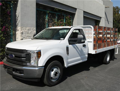 2018 F-350 Regular Cab DRW, Scelzi Western Flatbed Stake Bed #J2303 - photo 3