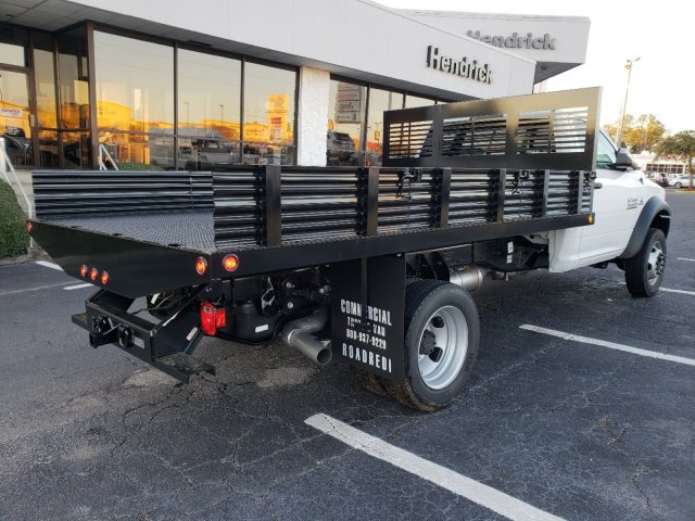 2018 Ram 4500 Regular Cab DRW 4x2,  Commercial Truck & Van Equipment Platform Body Stake Bed #M31483 - photo 2