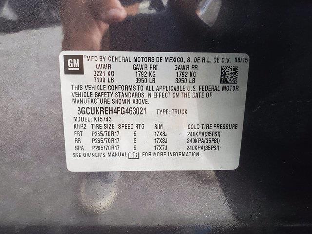 2015 Chevrolet Silverado 1500 Crew Cab 4x4, Pickup #M25331A - photo 32