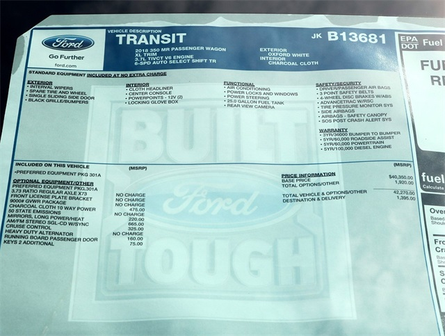 2018 Transit 350 Med Roof 4x2,  Passenger Wagon #186400 - photo 8