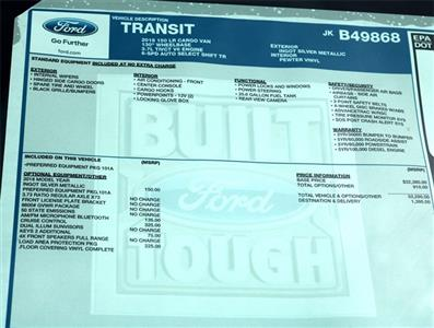 2018 Transit 150 Low Roof 4x2,  Empty Cargo Van #186756 - photo 6