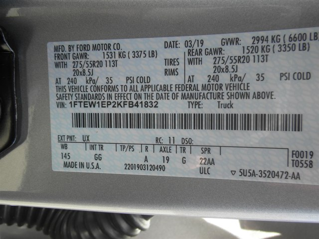 2019 F-150 SuperCrew Cab 4x4,  Pickup #G5544 - photo 33