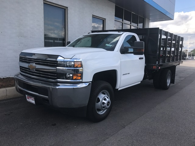 2017 Silverado 3500 Regular Cab DRW,  Auto Truck Group Stake Bed #17-1910 - photo 4