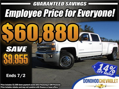 2018 Silverado 3500 Crew Cab 4x4,  Pickup #46078 - photo 1