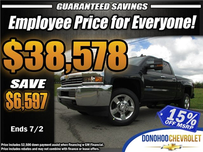 2018 Silverado 2500 Double Cab 4x4,  Pickup #46659 - photo 1