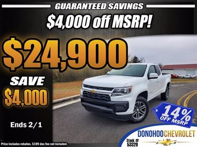 2021 Chevrolet Colorado Extended Cab 4x2, Pickup #53329 - photo 1