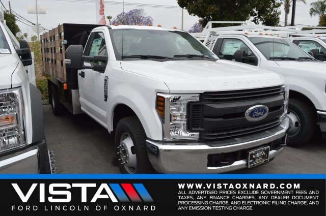 2018 F-350 Regular Cab DRW 4x2,  Harbor Stake Bed #F8C515 - photo 1