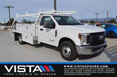 2019 F-350 Regular Cab DRW 4x2,  Scelzi CTFB Contractor Body #F9C567 - photo 1