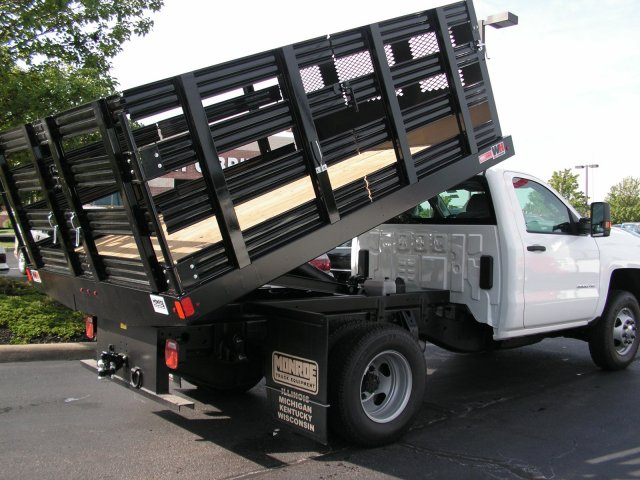 2017 Silverado 3500 Regular Cab DRW 4x2,  Knapheide Stake Bed #HF188010 - photo 3