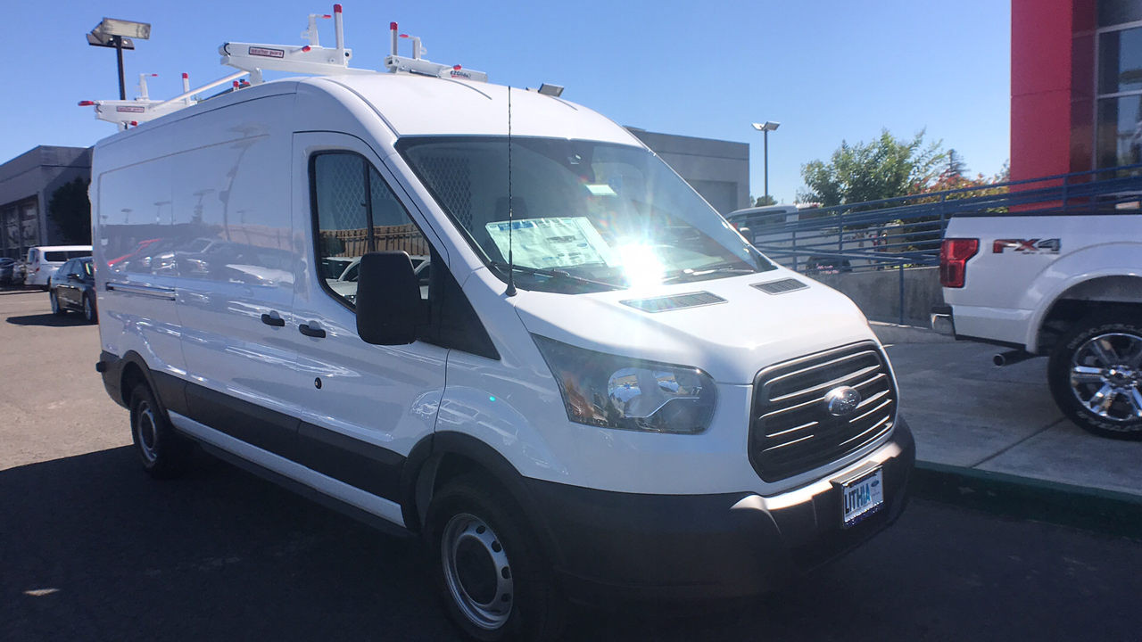 2018 Transit 250 Med Roof 4x2,  Weather Guard Upfitted Cargo Van #JKA71731 - photo 9