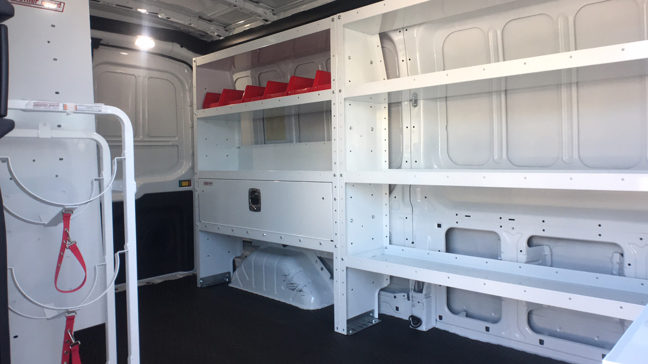 2018 Transit 250 Med Roof 4x2,  Weather Guard Upfitted Cargo Van #JKA71731 - photo 11