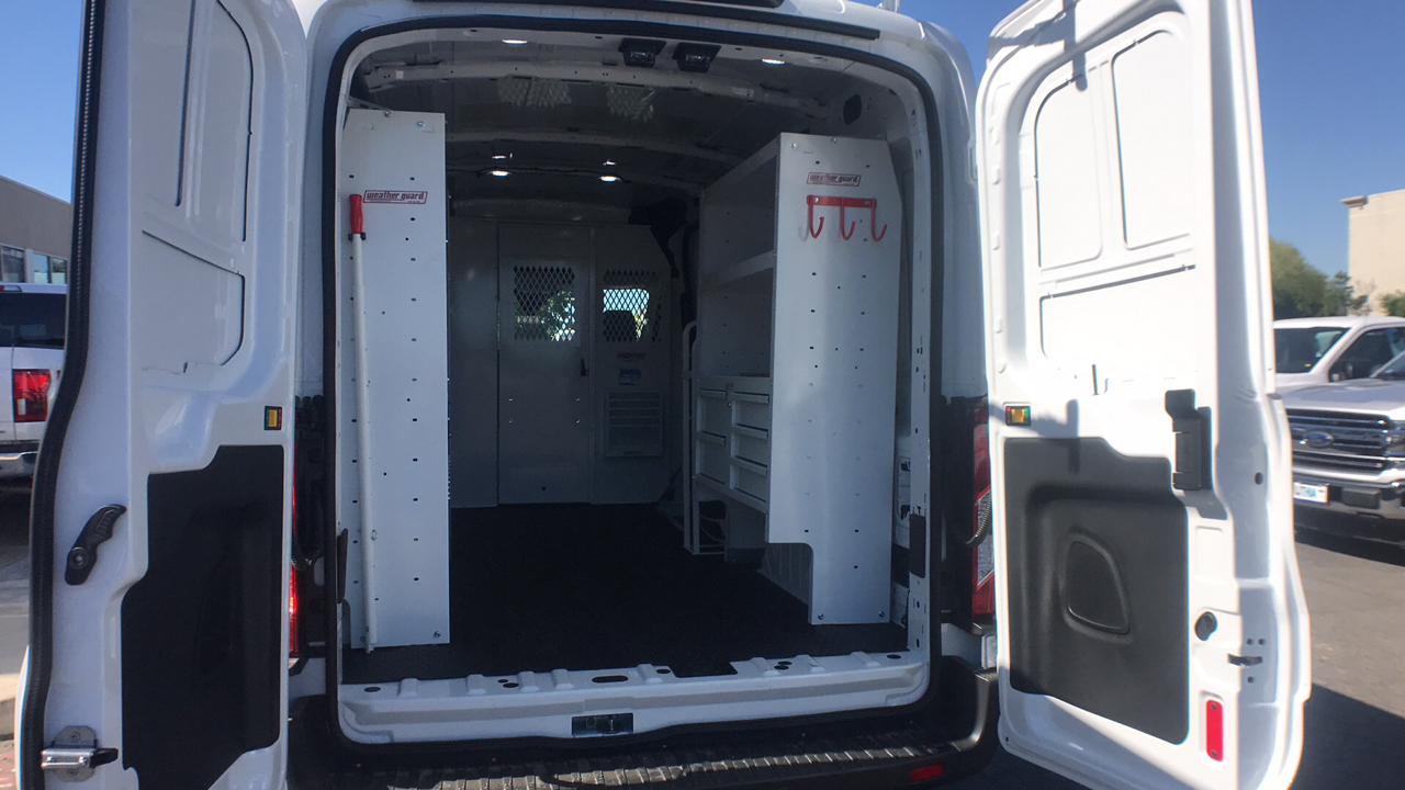 2018 Transit 250 Med Roof 4x2,  Weather Guard Upfitted Cargo Van #JKA71731 - photo 2
