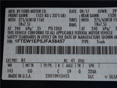 2018 F-150 Crew Cab 4x4, Pickup #AT09197 - photo 30