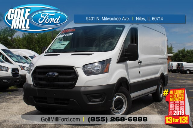 2020 Ford Transit 150 Med Roof RWD, Weather Guard General Service Upfitted Cargo Van #201156 - photo 1
