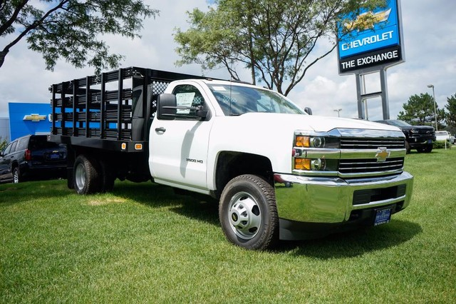 2017 Silverado 3500 Regular Cab DRW, Stake Bed #C17883 - photo 3