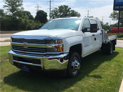 2017 Silverado 3500 Crew Cab DRW, Monroe Platform Body #C17996 - photo 1