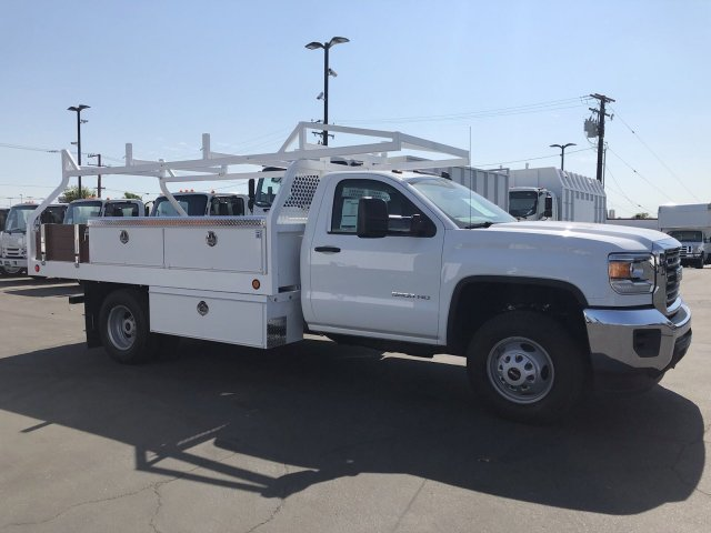 2018 Sierra 3500 Regular Cab DRW 4x2,  Royal Contractor Body #G180643 - photo 4