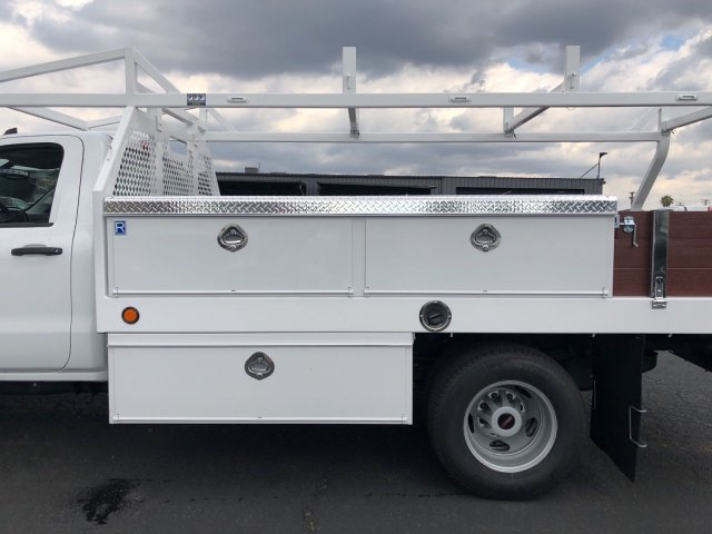 2018 Sierra 3500 Regular Cab DRW,  Royal Contractor Body #G180644 - photo 3