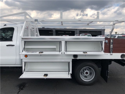 2018 Sierra 3500 Regular Cab DRW,  Royal Contractor Bodies Contractor Body #G180644 - photo 9