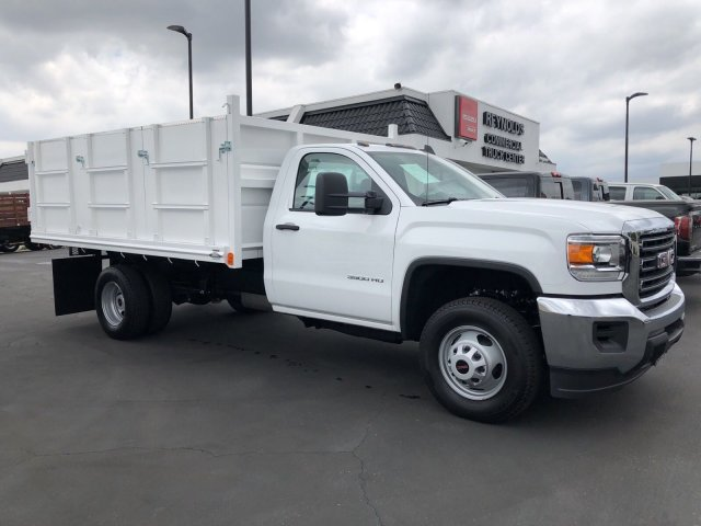 2018 Sierra 3500 Regular Cab DRW 4x2,  Martin's Quality Truck Body Landscape Dump #G180740 - photo 4
