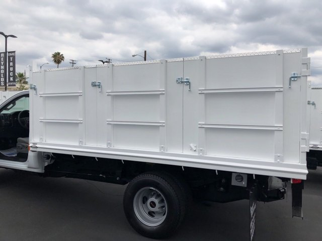 2018 Sierra 3500 Regular Cab DRW 4x2,  Martin's Quality Truck Body Landscape Dump #G180740 - photo 2