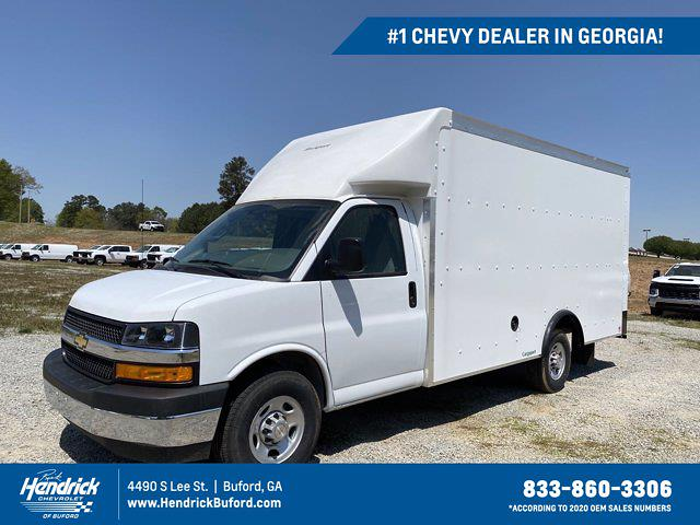 2021 Chevrolet Express 3500 4x2, Rockport Cargoport Cutaway Van #CM60206 - photo 1